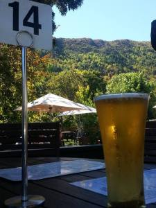 Libation in Arrowtown